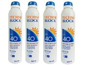 Techniblock® SPF 40 Sunscreen 340ml x 4 + FREE Travel Pack