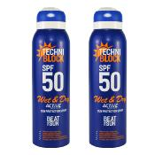 Techniblock SPF50 Wet & Dry Sunscreen 150ml x 2