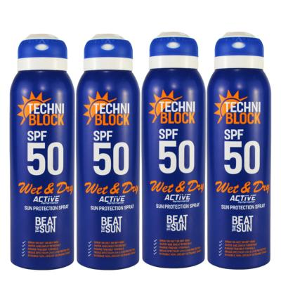 Techniblock SPF50 Wet & Dry Sunscreen 150ml x 4