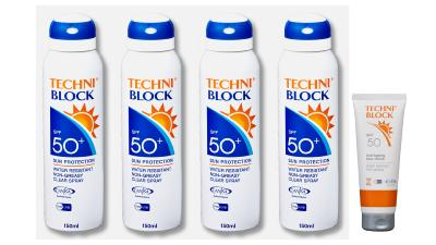 Techniblock® SPF50+ Sunscreen 150ml x 4 + Anti-Ageing Face Cream