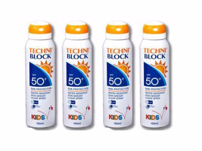 Techniblock® SPF50+ KIDS Sun Spray 150ml x 4