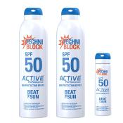 Techniblock® SPF 50 Active Performance 300ml x 2 + a free 75ml