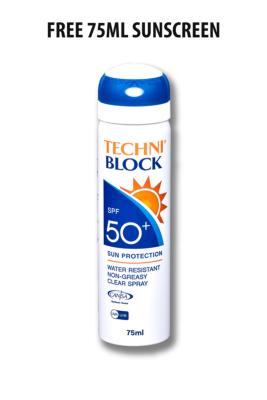 Techniblock® SPF50+ Sunscreen 150ml x 2 + free 75ml
