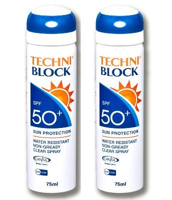 Techniblock® SPF50+ Sunscreen 75ml x 2