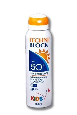 Techniblock SPF50+ Kids Aerosol Sunscreen 150ml